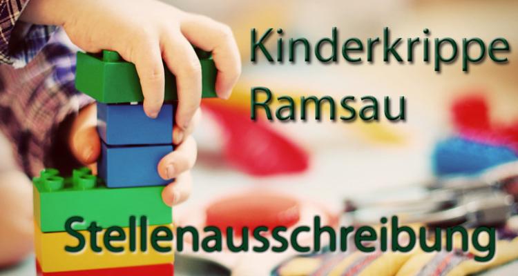 Kinderkrippe Ramsau - Stellenausschreibung