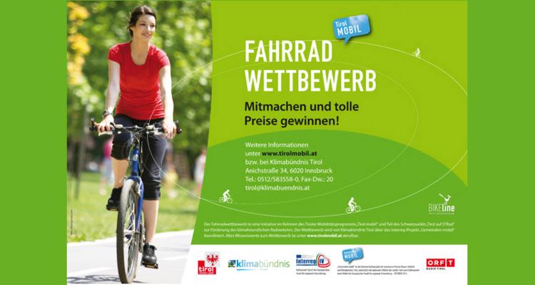 Tiroler Fahrradwettbewerb 2019: Mitradeln und gewinnen!