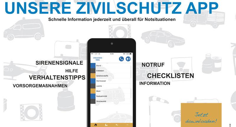 Zivilschutz-App des Landes Tirol