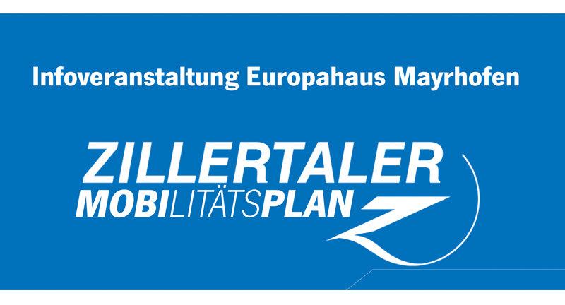 "Infoveranstaltung ""Zillertaler Mobilitätsplan"""