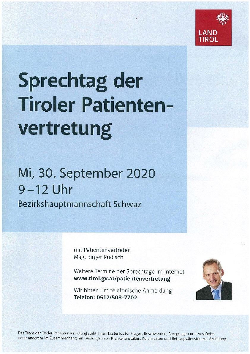 Sprechtag der Tiroler Patientenvertretung