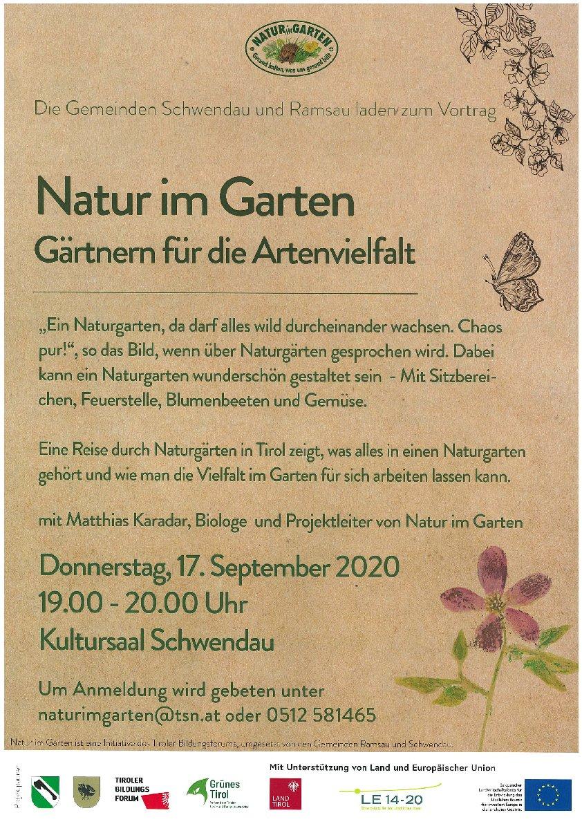 Vortrag Natur im Garten